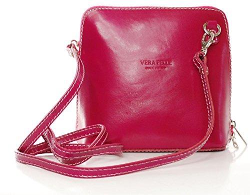 Vera Pelle Bag - Classica borsa da donna, a tracolla donna Rosa