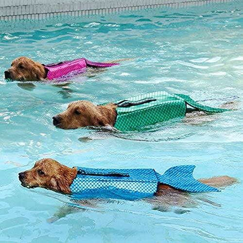 (LOVEPET Haustier Badeanzug Hund Drehte Sich Um Meerjungfrau Haustier Schwimmweste Haustier Hundekleidung 3 Stück)