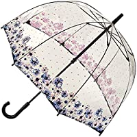 Fulton Birdcage Clear Dome Umbrella - Flower Love