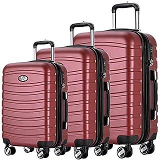 Andreas Dell REISEKOFFER REISEKOFFERSET Trolley Koffer 3 Set XL L M Kofferset REISEKOFFER Bordo TSA Schloss