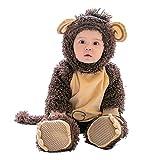 Baymate Unisex Bebés Monos Calentar Rompers Infantil Jumpsuits con Capuchado Traje Animal de Cosplay Halloween Estilo2 80