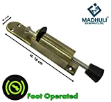 Best Door Stops - MADHULI Antique Brass Foot Operated Door Stop, Door Review