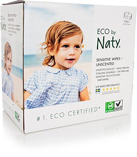 Naty toallitas douces ECOLOGIQUES sin perfume 3Pack de 56toallitas