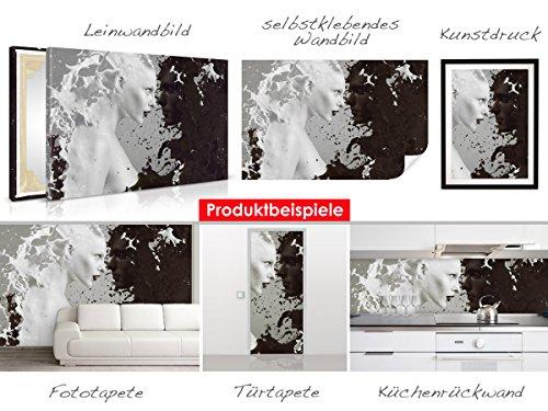 Selbstklebendes–cuadro de Buda Estatua–Fáciles de pegar–Wall Print, Wall Paper, Póster, pantalla con pegamento de puntos de vinilo para paredes, puertas, muebles y superficies lisas de Trend paredes 6