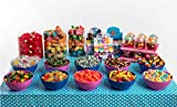 Mesa Dulce tamaño grande La Asturiana - Selección de golosinas para Candybar en eventos grandes (15 clases de golosinas distintas)