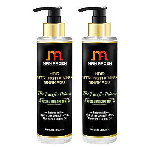 Man Arden Hair Strengthening Shampoo - The Pacific Prince - With Hydrolized Wheat Protein 200ml (Pack Of 2)