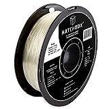 HATCHBOX 1,75 mm transparent weißes PLA-Filament für 3D-Drucker - 1 kg-Spule - Maßgenauigkeit +/- 0,05 mm
