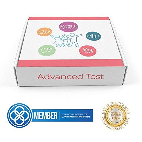 Erweiterter Allergie Test | Nahrungsmittelunverträglichkeits Test Kit | Nüsse, Gluten, Lactose, Pollen |Erkennt 600 Unverträglichkeiten | Beinhaltet 1 Test (Lebensmittel-allergie-test)