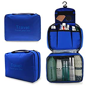 Refoss Travel Cosmetic Organizer Toiletry Bag with Hook for Men Women, Portable Multifunction Waterproof Storage Bag for Camping, Traveling, Household