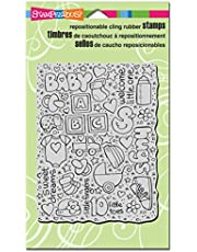 Stampendous Cling Rubber Stamp, Baby Background