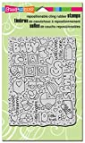 #2: Stampendous Cling Stamp 7.75