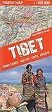 Tibet 1:400.000 trekking carte - le mont Everest, Nam Tso, Lhasa, Shigatse