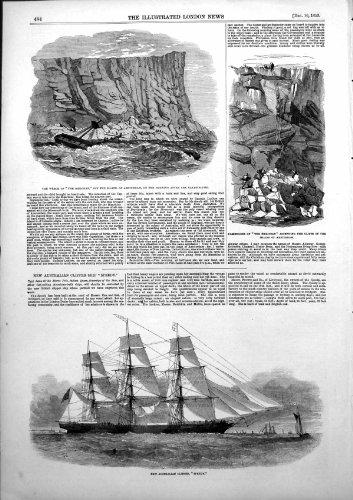 Scogliere 1853 dei Passeggeri di Amsterdam dell'Isola di Meridean del Relitto [Cucina & (Amsterdam Isola)