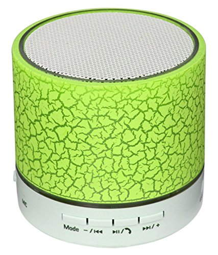 EXIXA Rechargeable Bluetooth Speaker WITH LED Wireless Bluetooth Speaker with Handsfree Calling Feature, FM Radio & SD Card Slot Yellowish Greenish Colour  available at amazon for Rs.249