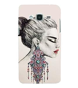 Amazing Girls Ear Rings 3D Hard Polycarbonate Designer Back Case Cover for Samsung Galaxy J3 (6) J320F :: Samsung Galaxy J3 (2016)