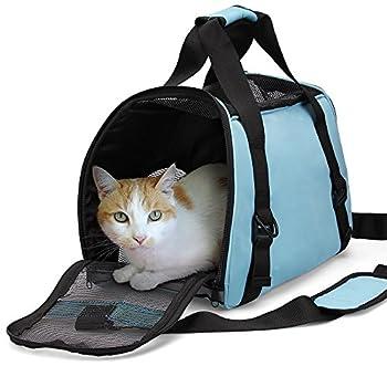 Sac de transporteur de voyage d'animal familier, douille portative pliable d'animal familier de douille de confort de Dotala a approuvé pour de petits chiens, chats et chiots petit animal (Bleu)