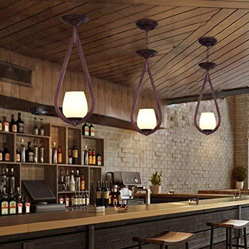 LSY Kronleuchter aus Retro Eisen, Langer Loft Kronleuchter Kaffee Dekor Restaurant Lounge der kreativen Industrie der Schatzkammer Kronleuchter Wind E27 Color Select (H),F (Eisen-kaffee Dekor)