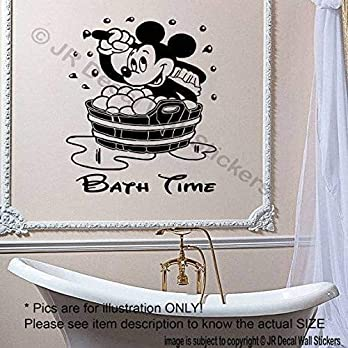 Disney Mickey Mouse CHILDREN BATH TIME Removable Bad Home Decor Vinyl Aufkleber Wandtattoos