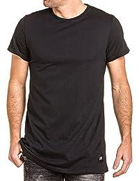 Sixth June - Tee-shirt uni large homme noir oversize