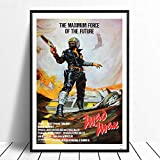 taoyuemaoyi Mad Max Vintage Classic Movie Poster Home Decor Decorazione della Parete Wall Art Canvas Pittura Cnavas Stampa 40 * 60Cm