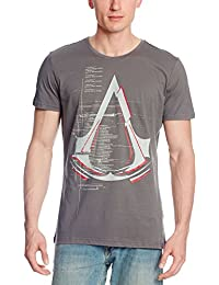 T-shirt Assassin's Creed logo Legendary Crest coton gris