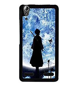 Fuson Premium 2D Back Case Cover Lady ruler With White Background Degined For Lenovo A6000