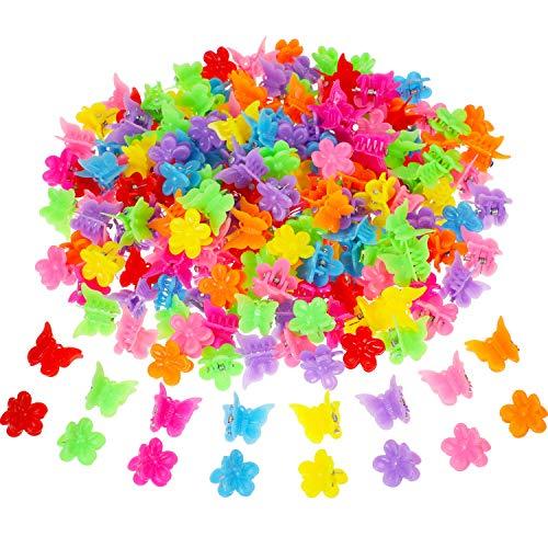 Mini-butterfly-clips (200 Stücke Mini Schmetterling Haarspange Verschiedene Haarspange Klaue Farbige Haargreifer Zubehör für Damen und Mädchen, 8 Farben (Stil Satz 2))