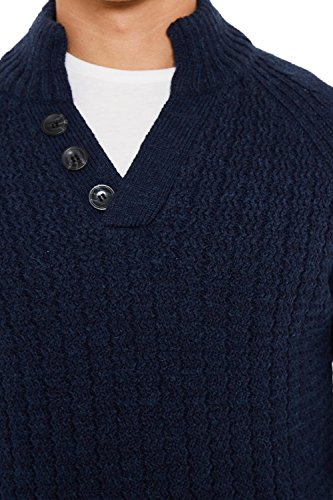 Threadbare - Pull - Pull - Homme bleu bleu Small Indigo Marl - Blue