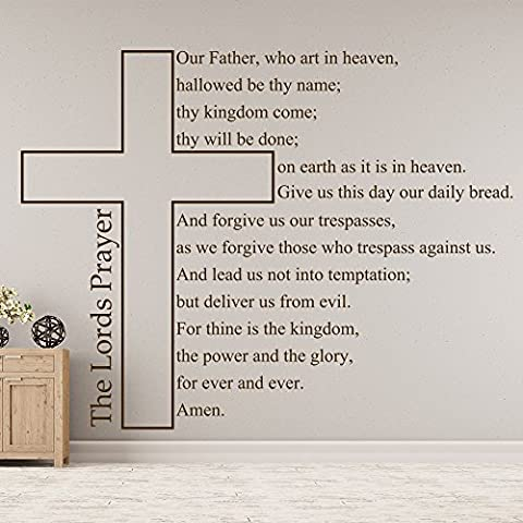 Our Father Who Art In Heaven Christian Cross Religious Wall