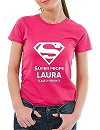 Regalo Personalizable para Profesores: Camiseta Personalizada con su Nombre y el Texto Que Tú Quieras