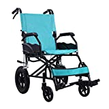 Shisky Thick aluminum alloy wheelchair folding lightweight wheelchair elderly disabled safe and portable