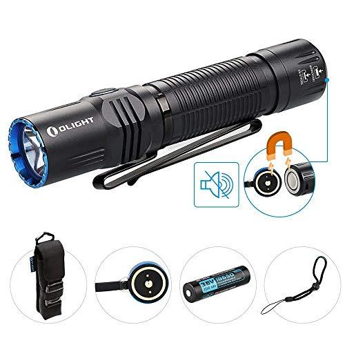 OLIGHT M2R WARRIOR Lampe Torche Puissante MAX 1500 lumens 208 Mètres Garantie 5 ANS Lampe de Poche LED Rechargeable pour Utilisation Domestique Activité Extérieure Airsoft Chasse
