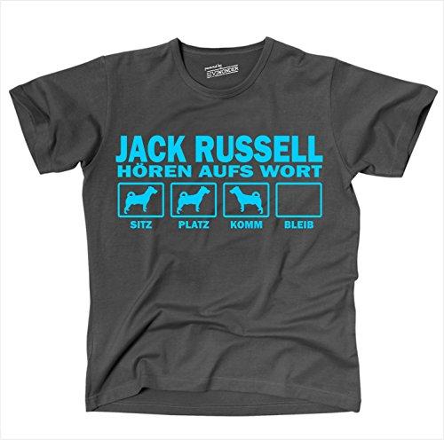 Siviwonder Unisex T-Shirt Jack Russell Terrier Hunde Hören Aufs Wort dark grey - türkis XL