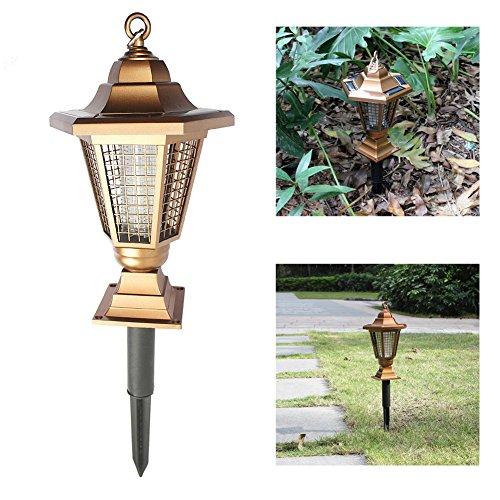 TechCode Moskito-Mörder-Lampe, 2 in 1 Solarim Freienbeleuchtung, Solargras-Lampe, wasserdichte Moskito-Mörder-Lampen, Garten-Laternen-Licht, LED-Solargarten-Lampen