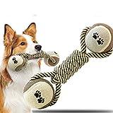 BeYself Bone Shaped Rope Ball Chew Toy For Dog/Cat