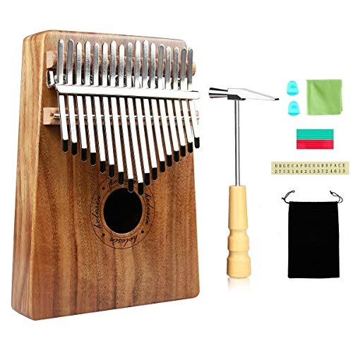 KOA Kalimba Daumenklavier 17 Schlüssel, Thumb Piano Finger Daumen Klavier Solide Sanza Instrument