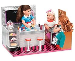 Our Generation- Bite to Eat Diner Restaurante Retro para muñecas, Multicolor (Battat BD67067Z)