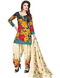 A K Designer Women's Chiffon Dress Material (Mehak10003_Free Size_Multi-Coloured)