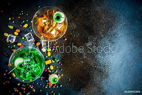 Spooky Cocktails Für Halloween - druck-shop24 Wunschmotiv: Spooky Halloween Martini Cocktail