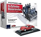 Porsche 6-Zylinder-Boxermotor Sonderedition mit Original Porsche 911 Modellauto   Flat-Six Boxer Engine Special Edition incl. 911 Plastic Model Car
