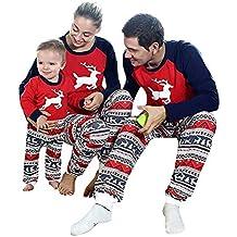 c676e582fa BaZhaHei-Navidad Niño bebé niño niña Capucha Mameluco Mono Pijama Familia  Ropa de Dormir Traje