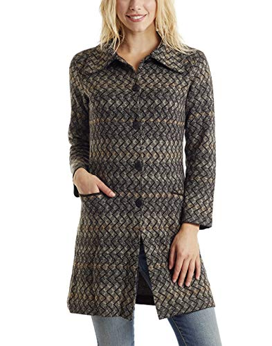 Invisible world giacca lunga cardigan donna inverno 100% lana di baby alpaca a maglia alba l