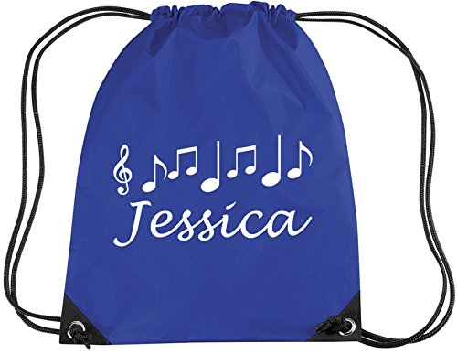 ROYAL BLUE PERSONALISED MUSIC BAG with name -Music/PE/Drawsting Bag In Royal Blue (PLEASE GO TO ADD GIFT OPTIONS.....ENTER NAME IN FREE GIFT MESSAGE SECTION...AND SAVE)