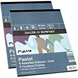 "Daler Rowney Murano Pastel Paper Pad 6 Cool Colours 12 x 9"" 30 Sheets 160gsm"
