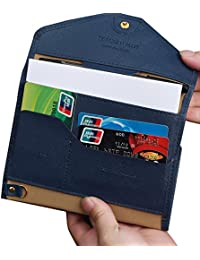 Travel Wallet, HOMPO PU leather Passport Holder Travel Organizer For Ticket Cash Credit Card Pen Key