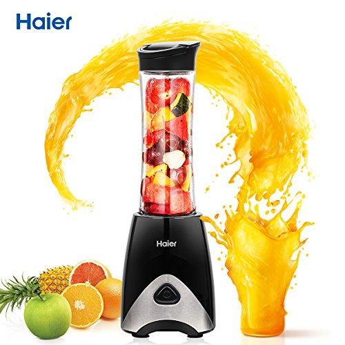 Haier-Mini-Botidora-de-Vaso-PorttilExprimidor-de-Zumos-y-Fabricante-de-Alimentos-para-BebsElectrodomstico-MultifuncionalNegro