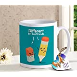 Tied Ribbons Friendship Gift For Boys Girls Best Friend Girl Friend Printed Coffee Mug(325 Ml) And Wooden Tag