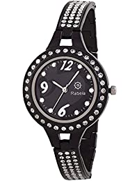 Rabela Women's Analogue Black Dial Watch RAB-826