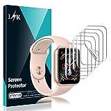 L K 6 Stücke Schutzfolie für Apple Watch 44mm Serie 4, HD klar Flexible TPU Folie [Blasenfreie] [Kompatibel mit Hülle] [Premium-Qualität] [Lebenslange Ersatzgarantie] Bildschirmschutzfolie