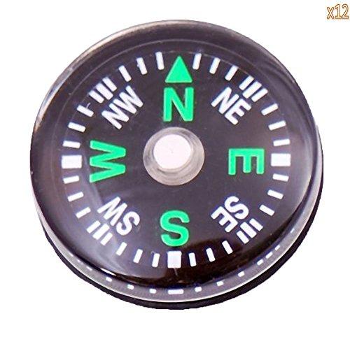 Xiton Großhandelslos 24pcs 20mm Kleine Mini Kompasse für Survival Kit